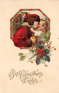Santa Claus Post Card Old Vintage Antique Christmas Postcard John Winsch Publ...