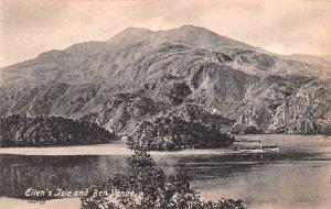 Scotland, UK Old Vintage Antique Post Card Ellen's Isle and Ben Venue Un...
