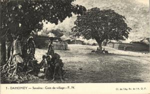 CPA Dahomey Afrique - Savalou - Coin de village (86860)