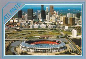 Fulton County Stadium, Skyline View, Atlanta, Georgia 50-70s