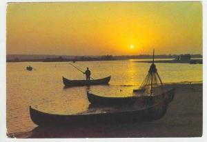 Twilight in the Danube Delta, Romania, Town Center, PU-1972