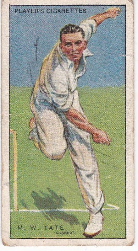 Cigarette Cards Player's Cricketers 1930 No 41 - M W Tate