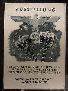 1942 Vienna Germany Propaganda Postcard cover fair palace Georg Ritter