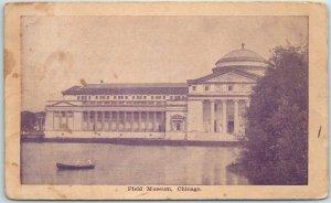 Chicago, Illinois Postcard Field Museum w/  Lake & Boat View 1912 NE Cancel