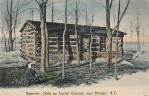 Near MANDAN, North Dakota, 1900-10s; Roosevelt Cabin on Capitol Grounds