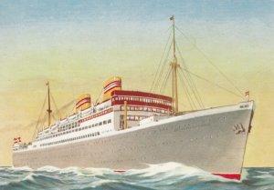 Norwegian America Line Ocean Liner S/S STAVANGERFJORD , 1930-40s