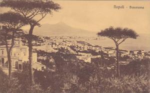Scenic Panorama View of Napoli Coastline, Campania, Italy 1900-10s