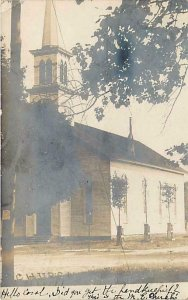 RPPC  CEDAR SPRINGS, Michigan  MI  ~ M.E. CHURCH  1907 Kent County  Postcard