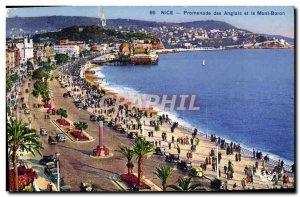 Old Postcard Nice Vieux Port and Mont Boron