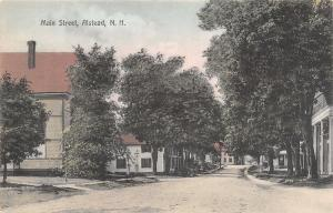 Alstead NH Handcolored~Nattow, Shady Main St 1910