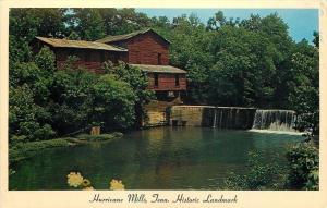 Hurricane Mills Tennessee~Raw Cotton Blue Jean Mill~1950s Postcard