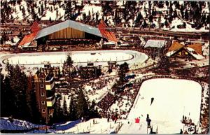 Blythe Ice Arena, Nevada Olympic Building Squaw Valley CA Vintage Postcard N08