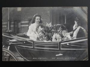 Cheshire KNUTSFORD May Festival THE ROYAL CARRIAGE May Queen c1909 RP Postcard