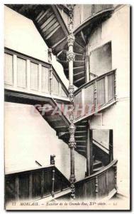 Old Postcard Morlaix Steps Grange Street XV Century