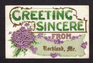ME Greeting Sincere from ROCKLAND MAINE Postcard PC