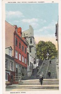 Escaliers, Rue Petite Champlain, Quebec ,00-10s