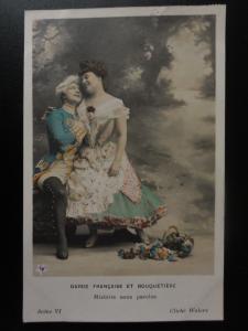 French Romance Garde Francaise et Bouquetiere No.Vl HISTOIRE SANS PAROLES c1902