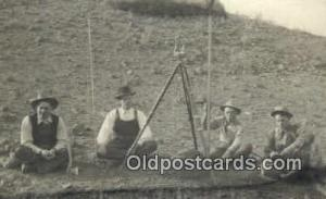 Real Photo People Working Postcard Post Card, Old Vintage Antique