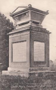 Poet Gray Cenotaph Stoke Pogis Bucks Postcard