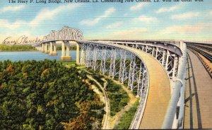 Louisiana New Orleans The Huey P Long Bridge Curteich