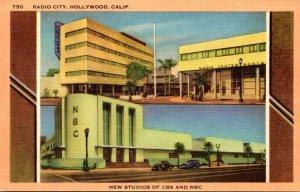 California Hollywood Radio City New Strudios Of CBS and NBC