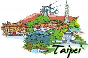 Fine Art Quality Postcard, Taipei, Taiwan, Landmarks, City, View, Travel 92H