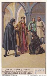 Liebig Vintage Trade Card S1337 El Cid 1936 No 2 Chimene vient demander justi...