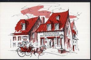 PQ Aux Anciens Canadiens Restaurant QUEBEC 34 Rue St Louis - Art Deco1950-1970s