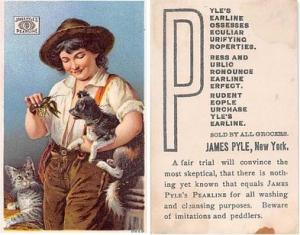 approx size inches = 2.5 x 4 Trade Card, Tradecard