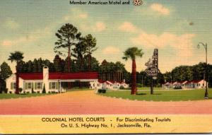 Florida Jacksonville Colonial Hotel Courts