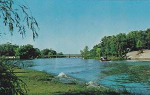 The Nottawasaga River as seen from Nancy Island,  Wasaga Beach,  Ontario,  Ca...