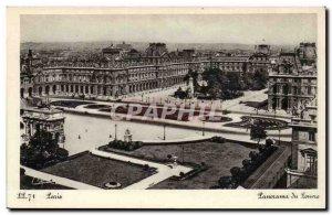 Paris Old Postcard Panorama Louvre