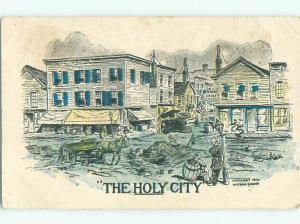 Pre-Linen Comic THE HOLY CITY - STREETS OF MANY POTHOLES AB8507