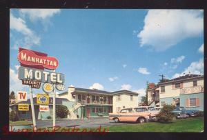 GLENDALE CALIFORNIA ROUTE 66 MANHATTAN MOTEL SWIMMING POOL