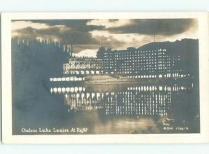 old rppc HOTEL SCENE Lake Louise Alberta AB W0823