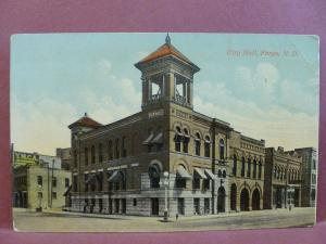Old Postcard ND Fargo City Hall