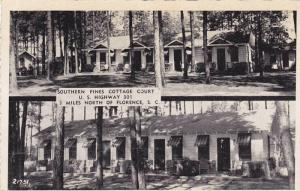 Two Exterior Views of Southern Pines Cottage Court, Florence, South Carolina,...