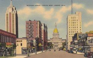 Michigan Lansing Michigan Avenue Looking West sk4891