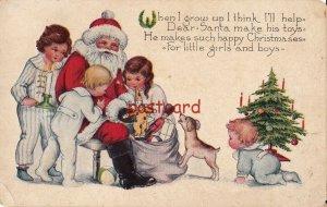 c1910? Christmas, ..help Dear Santa make his toys.. mailed to Frank Borstler