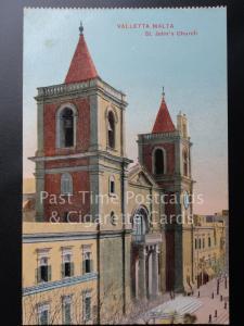 c1918  Malta: VALLETTA MALTA, St. John's Church