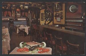 Cape Cod Room Restaurant Interior Drake Chicago Holiday Award Postcard