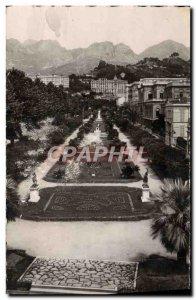 Old Postcard The d & # 39Azur Riviera Menton view of & # 39Ensemble The Publi...