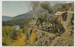 Durango CO rr railroad narrow gauge locomotive Postcard