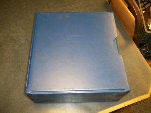 Double  Postcard Album  with storage box , used