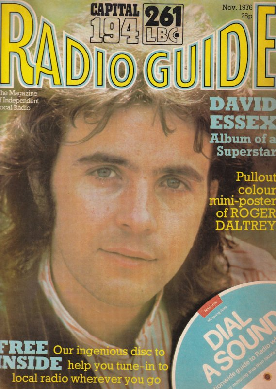 Roger Daltrey The Who Poster David Essex Capital Radio Free Disc 1976 DJ Magazin