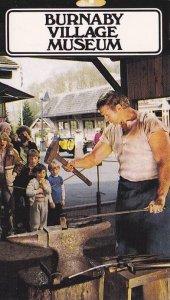 [BC] : Blacksmith on anvil , Burnaby Village Museum , B.C. , Canada , 50-60s