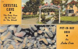 B33/ Put-In-Bay Ohio Postcard South Bass Island Linen Crystal Cave 2View 7