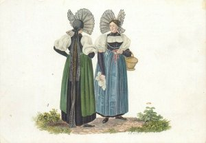 Switzerland swiss early folk costumes ethnic types Bern