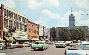 Columbia Tennessee~Main Street~Classic Cars~JC Penney~Woolworth~1950s Pc