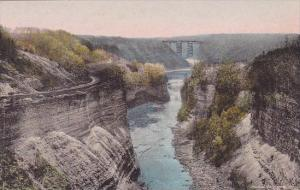 Portage Bridge From Inspiration Point Letchworth State Park P O Castile New Y...